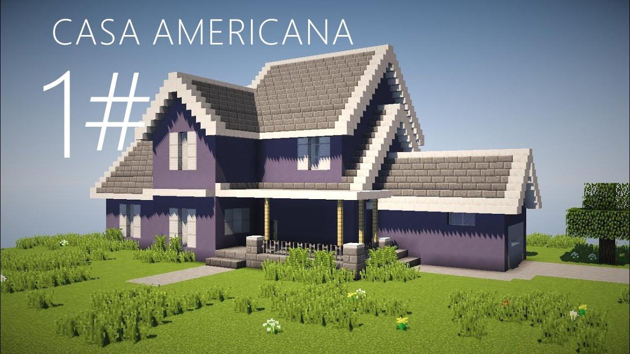 Como hacer una casa americana parte 1 minecraft youtube for Como crear una casa