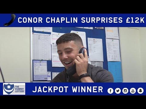 Conor Chaplin makes call to £12k Pompey Lottery jackpot winner