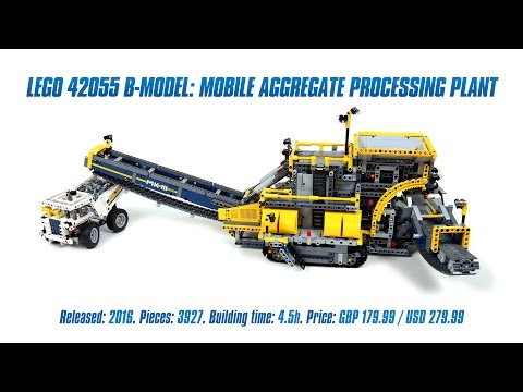 lego technic 42055 bucket wheel excavator c model moc rc aggregate processing plant. Black Bedroom Furniture Sets. Home Design Ideas