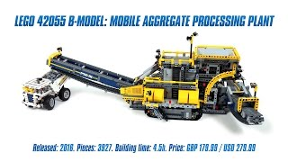 'LEGO Technic 42055 B-model: Mobile Aggregate Processing Plant' Speed Build & Review