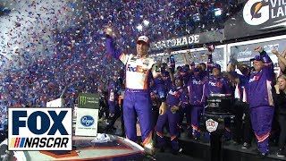 Watch Denny Hamlin celebrate his Daytona 500 victory | 2019 DAYTONA 500