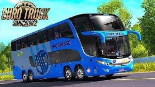 SIMULAÇÃO ao EXTREMO #11 - FICAMOS PRESO no TRANSITO! G7 1800 DD PROGRESSO l ETS2 MOD BUS