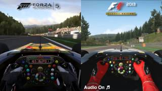 Forza Motorsport 5 vs F1 2013 (PC) - Lotus E21 F1 @ Spa-Francorchamps
