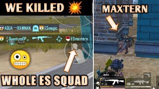 WE KILLED MAXTERN AND HIS SQAUD ♥️ | NEW CLAW CONTROLS GAMEPLAY 😁 | PUBG MOBILE 🇮🇳