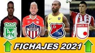 ✅ ÚLTIMOS FICHAJES Y SALIDAS LIGA BETPLAY 2021 ✅ PARTE 5 | Nacional, Junior, América, Santa Fe, DIM.