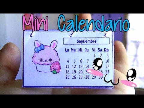 Ideas para organizarte! Haz un mini calendario fácil! - Easy mini calendar!