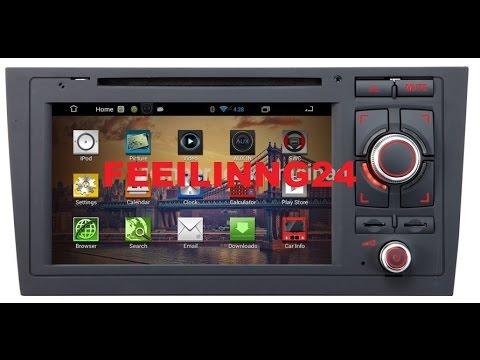 feeilinng24 car audio audi a6 car gps android 4 4 quad. Black Bedroom Furniture Sets. Home Design Ideas