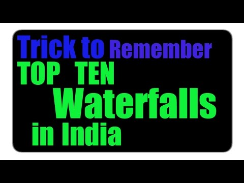 Top 10 Highest Waterfalls in India | Trick to Remember Top  20 Waterfalls See in Next Video