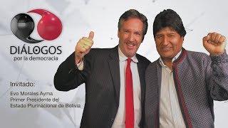 John M. Ackerman y Evo Morales Ayma Primer Presidente del Estado Plurinacional de Bolivia