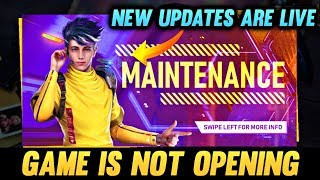 The Game Is Not Opening New Update Is Live Free Fire Live - AO VIVO
