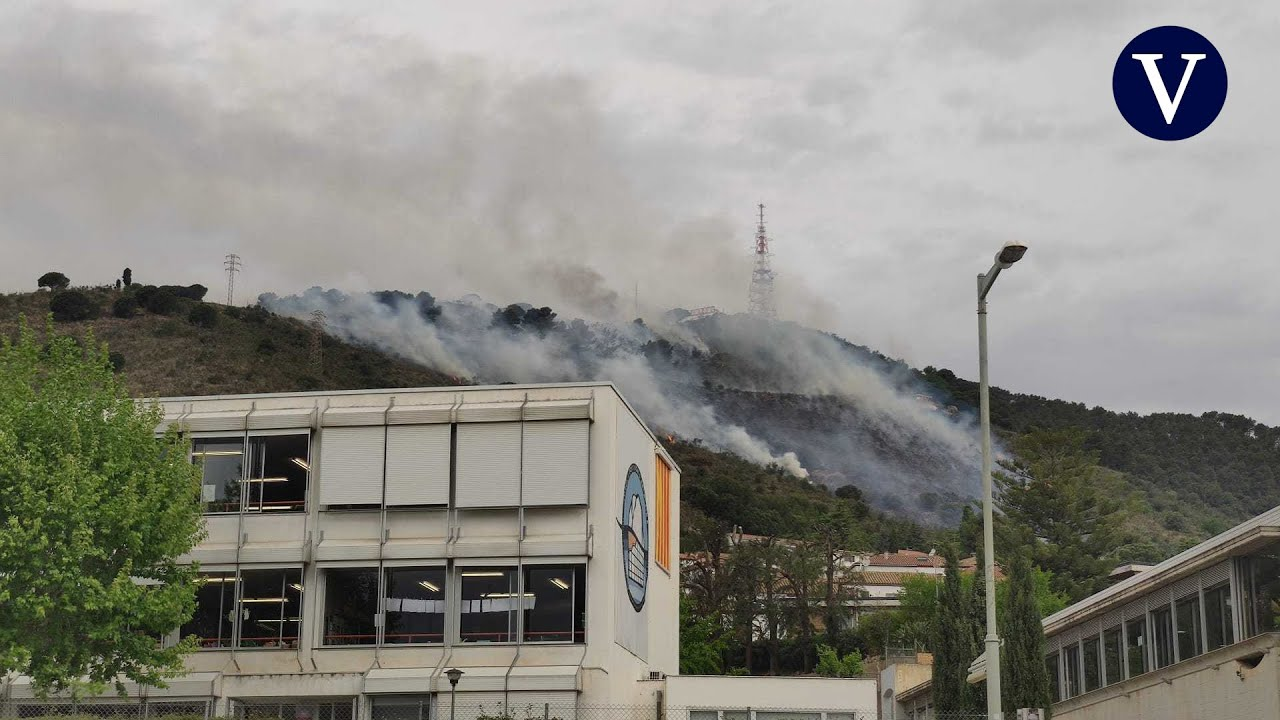Incendio forestal en Collserola