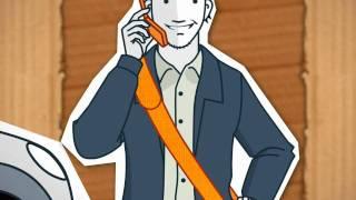 Conduire pour le travail. Les dangers du téléphone portable au volant
