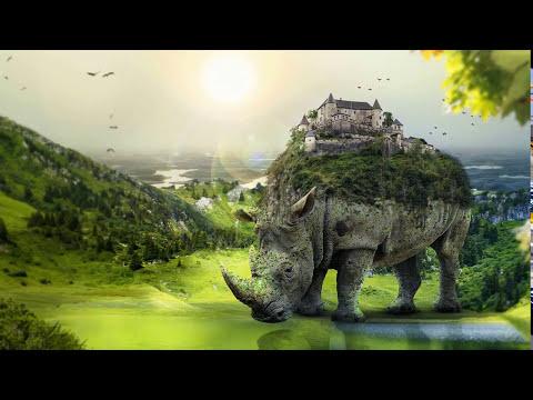 Tutorial _ Fantasy Moment - Fantasy effect (#Photoshop)            |#Create a Surreal Rhino|