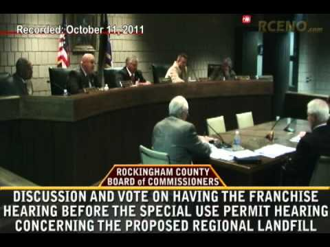 Commissioners Discussion-Vote on Franchise Agreement First Requirement For Proposed Landfill