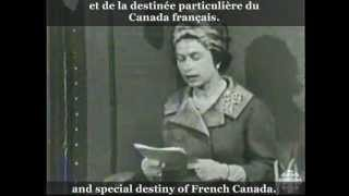 The Queen's Speech - Discours de la Reine (10 OCT 1964) Français (English subtitles)