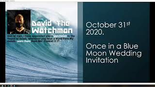 Once in a Blue Moon Wedding Invitation October 31 2020