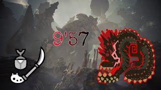 MHW Iceborne Savage Deviljho Solo Insect Glaive 9 57