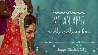 Milan Abhi Aadha Adhura Hai Udit Narayan Shreya Ghoshal Mp3 Song Download