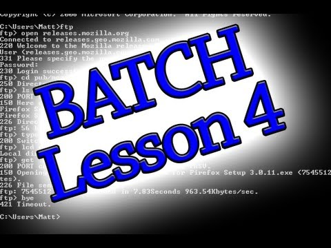 Batch Programing: Lesson 4 (How To Copy,Move And Rename Files + MORE)