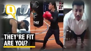 Watch: Rathore's Fitness Challenge is A Hit Among Celebrities | The Quint