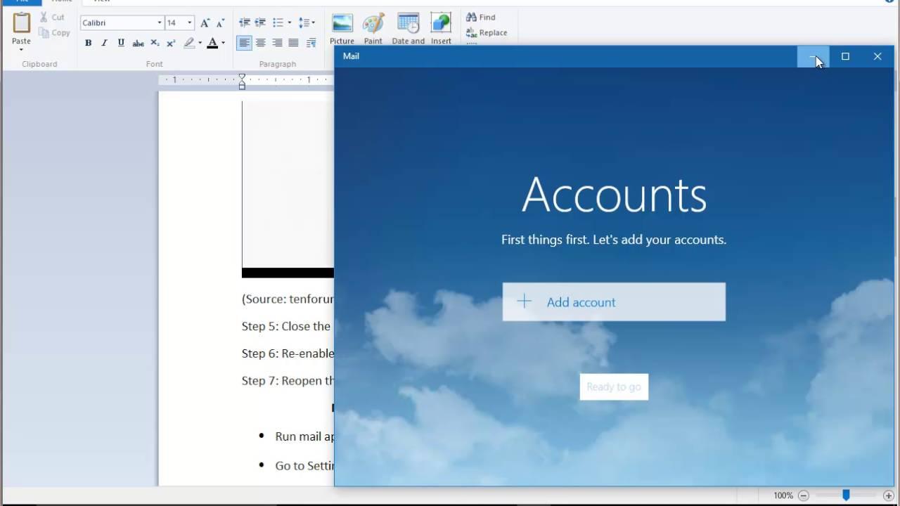Fix Error Code 0x8500201d in Mail for Windows 10