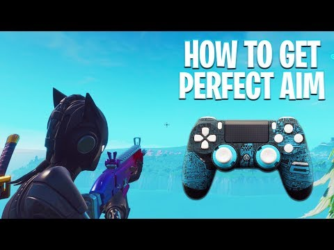 How to get 100% ACCURACY with a Controller (Fortnite Aim Tips)