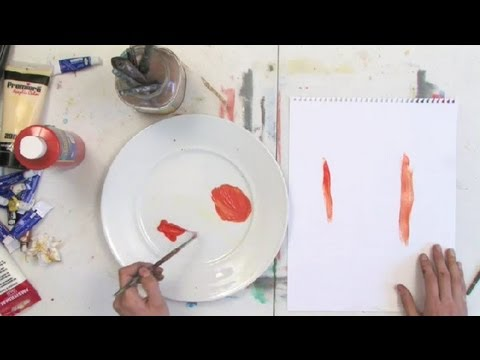 kid safe tempera paint vs watercolor paint painting tips youtube