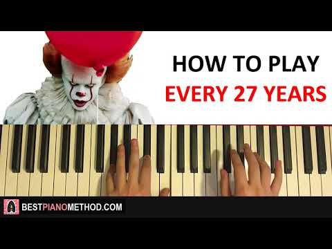 🎈 HOW TO PLAY - IT - Every 27 Years (Piano Tutorial Lesson)