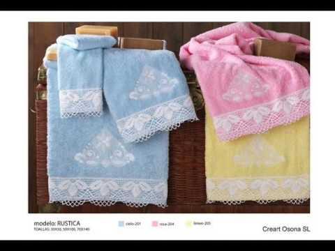Punto de cruz con toallas baberos capas de ba o y m s - Punto de cruz bano ...