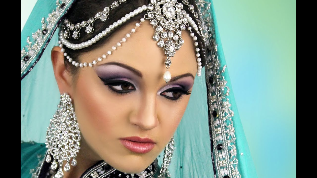 Asian Bridal Makeup Tutorial Purple White Smokey Eye You