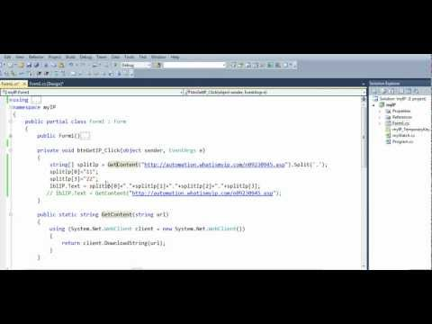 How to get your public ip address with c# - YouTube