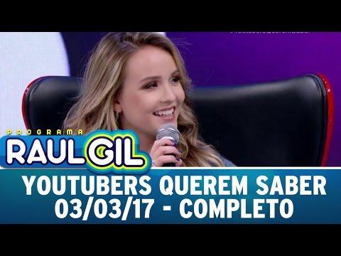 Youtubers Querem Saber com Larissa Manoela   Programa Raul Gil (03/03/17)