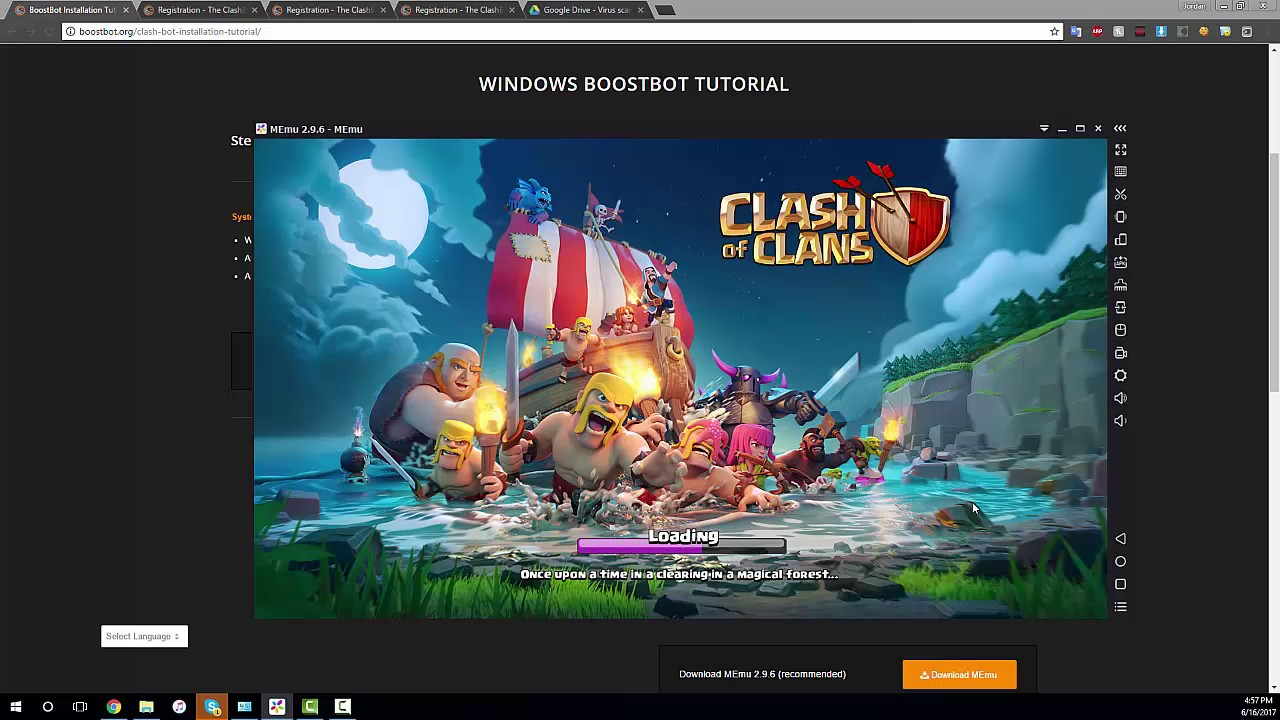 installing clash of clans in memu and connecting your. Black Bedroom Furniture Sets. Home Design Ideas