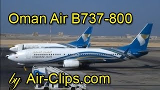 Oman Air Boeing 737-800: Poweful takeoff & braking action Dubai-Muscat [AirClips FullFlight series]