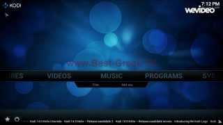 www.Best-Greek.TV - Οδηγίες εγκατάστασης των καναλιών στο XBMC