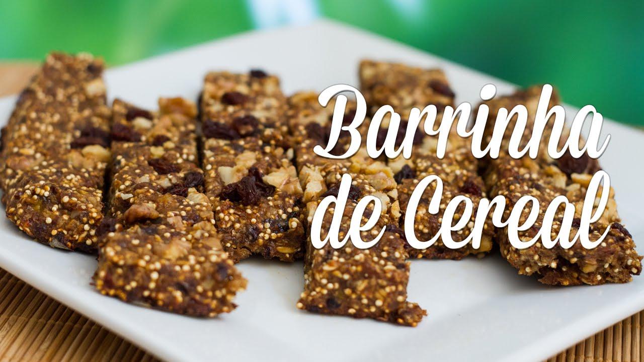 a41854c47 Receita de Barrinha de Cereal - YouTube