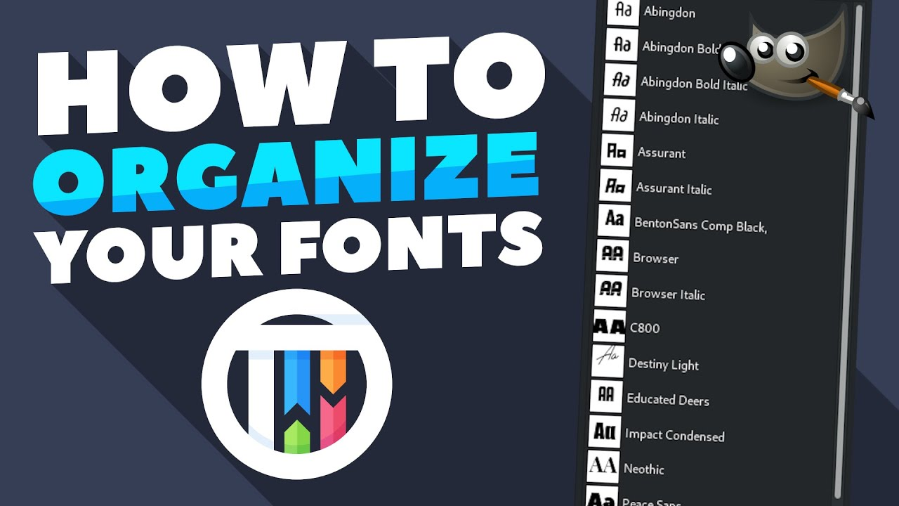 How to organize your fonts in GIMP