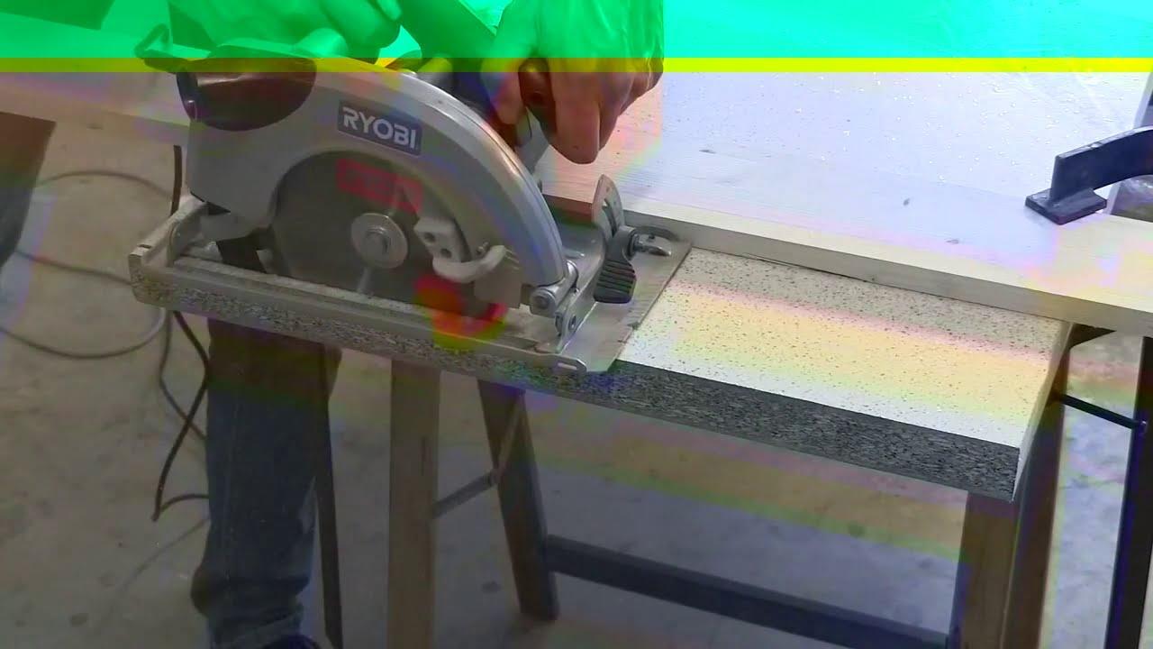 Come tagliare Piano cucina - YouTube