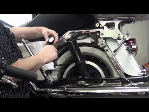 How to adjust the load on the touring suspsension of your Harley Davidson