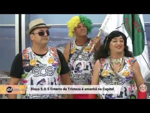 Clima de carnaval: SBT Meio-dia recebe o Bloco S.O.S Enterro da Tristeza