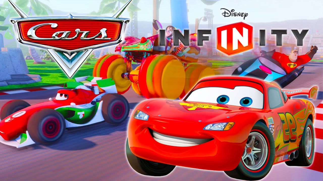 cars 2 lightning mcqueen disney infinity 3 0 race videos for kids games youtube. Black Bedroom Furniture Sets. Home Design Ideas