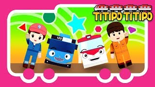 Titipo Songs l Titipo Shapes Song l Tayo Nursery Rhymes l Tayo the Little Bus