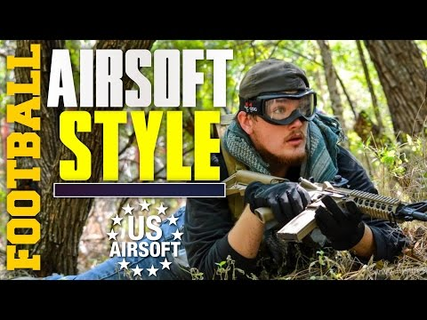 A Quick Game of Airsoft Football - Texas Airsoft Gameplay - PolarStar Krytac: USAirsoft