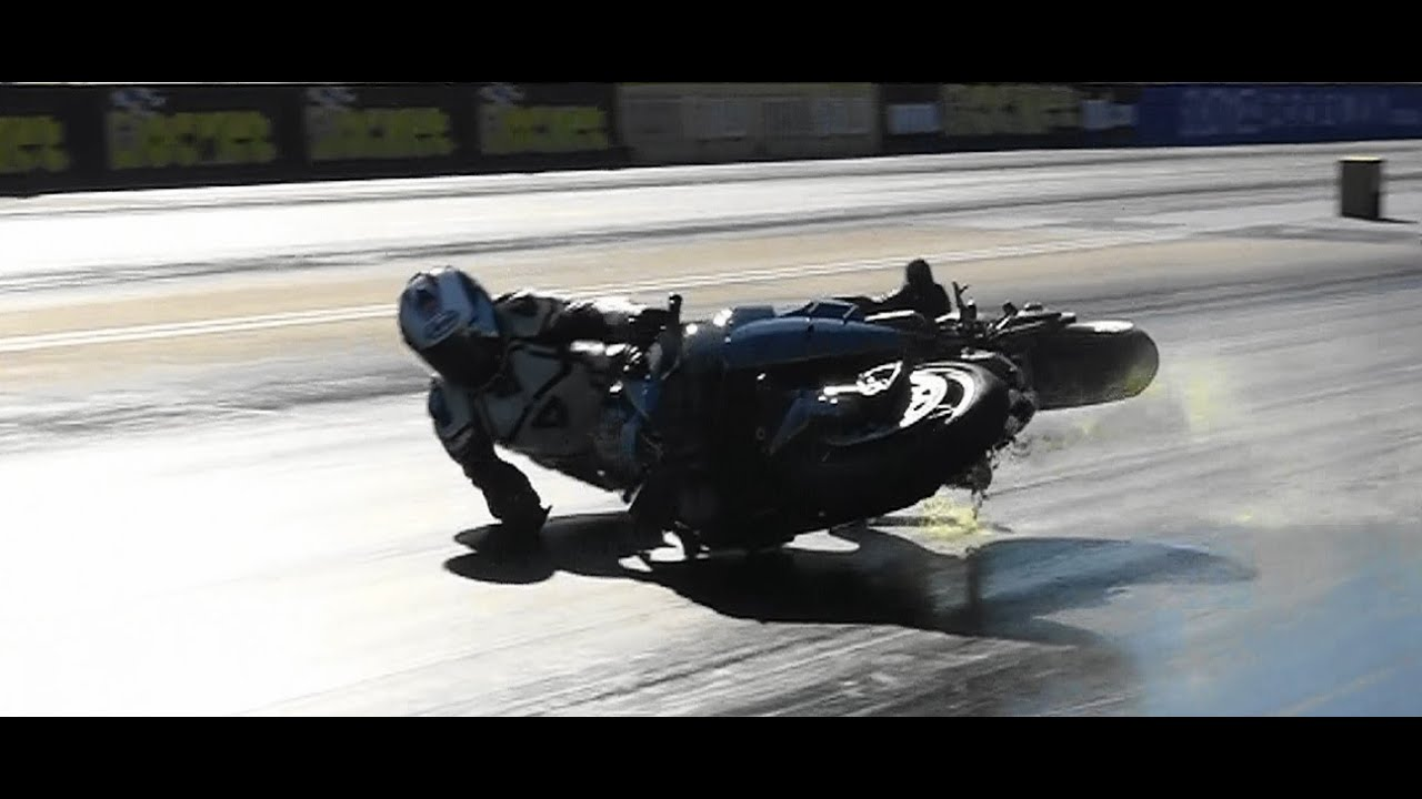 KAWASAKI NINJA H2R DRAG RACING CRASH