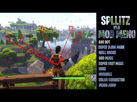 Fortnite - MOD MENU! (PS4) (AIMBOT, WALL HACKS, GOD MODE, INVISIBLE, UNLIMITED WINS AND MORE!)