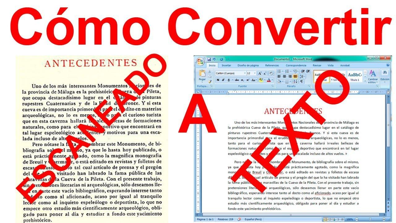 programa para cambiar de pdf a word gratis