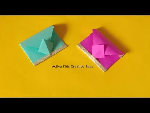 Super Easy Origami Envelope Tutorial   How to make small envelope for gift card