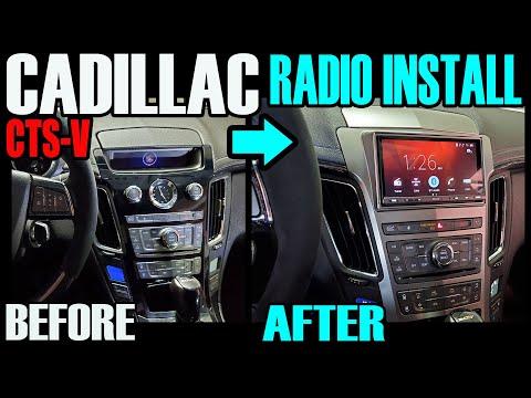 CADILLAC CTS-V / CTS – SONY DOUBLE DIN RADIO INSTALL USING METRA PARTS