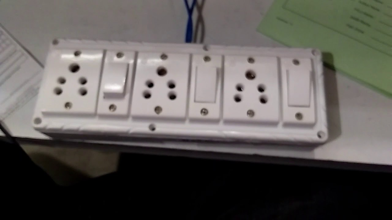 How to make a extension board three shocker and three switch - YouTube