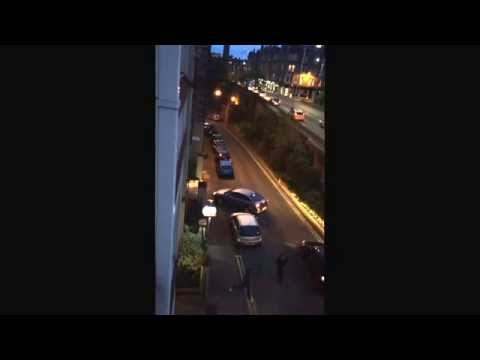 Street fight in Edinburgh